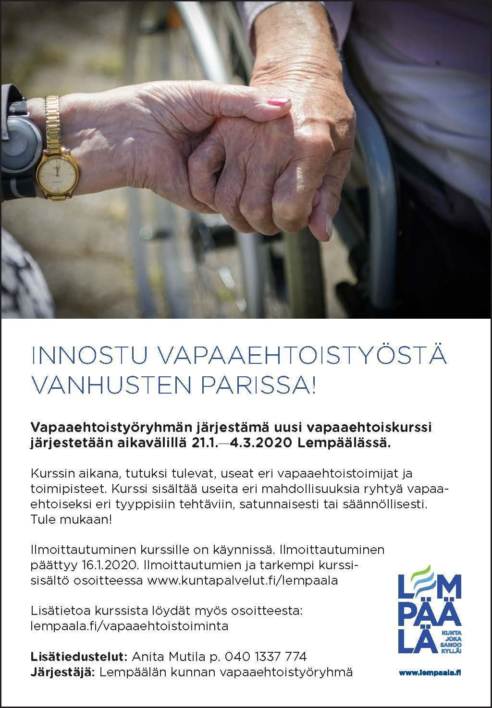 Innostu vapaaehtoistyöstä vanhusten parissa!